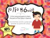 """La Tia Monica"" MP3 Song and Vocabulary Parts of Body Spanish Partes Cuerpo"