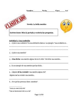 'La bella mentira'-Novel Activities/Literature Circles/FVR- 40+ Activities