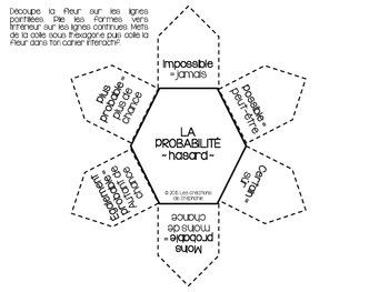 { La probabilité } 12 cartes à tâches + 1 élément pour le cahier interactif
