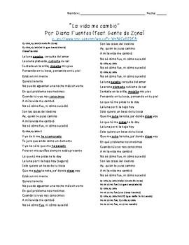 """""""La vida me cambió"""" by Diana Fuentes feat. Gente de Zona (Subjunctive)"""