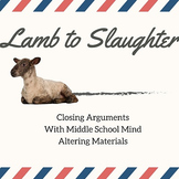 """Lamb to Slaughter"" Roald Dahl Insanity Plea Closing Arguments"