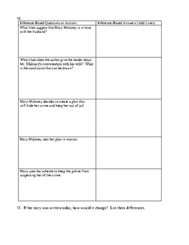 """""""Lamb to the Slaughter"""" Assessment or Worksheet with Detailed Answer Key"""