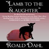 """Lamb to the Slaughter"" Roald Dahl Complete Short Story Unit!"