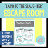 """""""Lamb to the Slaughter"""" by Roald Dahl Escape Room Review Activity"""