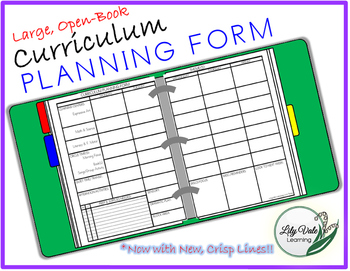 **Large, Open-Book, PLANNING FORM**