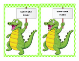 """Later Gator"" work folder label"