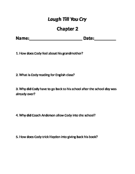 """""""Laugh Till You Cry"""" Chapter questions"""