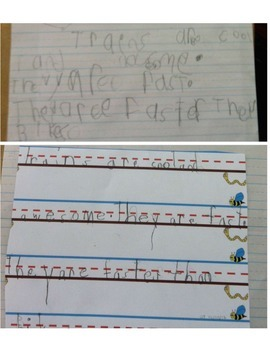 """Lava Paper"" - Teaching Handwriting Line placement/Sizing for Kindergarteners"
