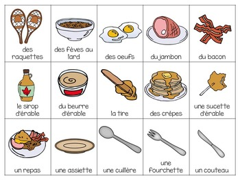 """Le temps des sucres"" Themed Bingo Game in French"
