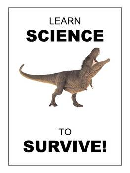 """""""Learn Science to Survive!"""" Science Poster Printable"""