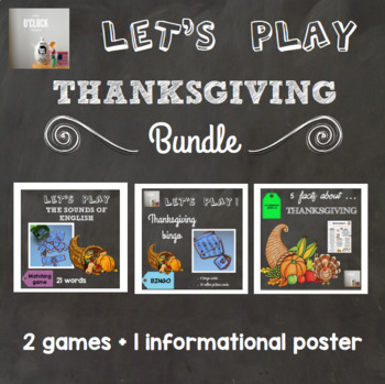 [Learn and Play] Thanksgiving bundle (games + poster)
