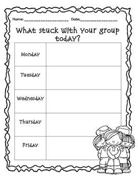 {Learning Log} What stuck with you today?