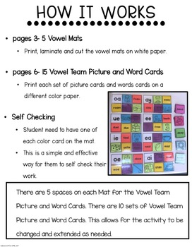 """Learning MATters"" Vowel Teams"