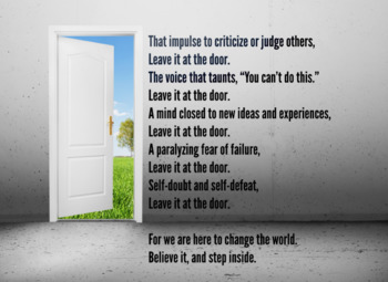 """""""Leave It at the Door"""" Motivational Poster"""