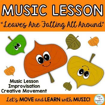 """Music Class Kodaly & Orff Lesson:""""Leaves Are Falling All A"""
