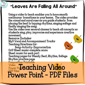 "Fall Music Lesson:""Leaves Are Falling All Around"" Teaching Video Improvisation"