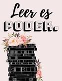 """Leer es poder"" Sign/Poster for Spanish Classroom Decoration"
