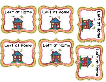 """""""Left at Home!"""" Folder Labels"""