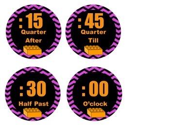 Building Block Theme Clock Labels