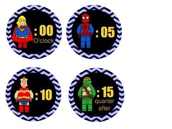 (Lego Like) Clock Labels