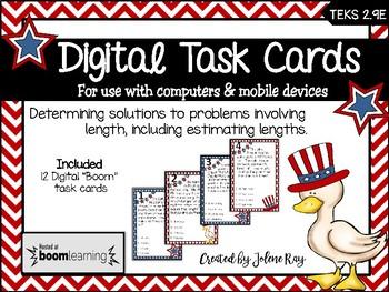 """Lengthy"" Problems - Set 2: Digital ""Boom"" Task Cards for TEKS 2.9E"