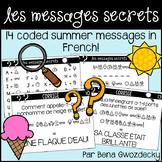{Les Messages Secrets: L'été!} 14 French coded summer messages