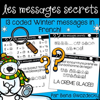 {Les Messages Secrets: L'hiver!} 13 coded winter messages in French
