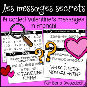 {Les Messages Secrets: La Saint-Valentin!} 14 coded messages in French