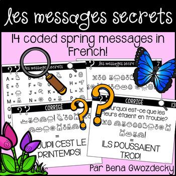 {Les Messages Secrets: Le printemps!} 14 French coded spring messages