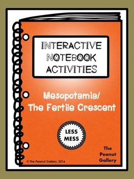 """Less Mess"" Mesopotamia (Fertile Crescent) Interactive Notebook Activities"