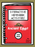 """Less Mess"" Ancient Egypt Interactive Notebook Activities"