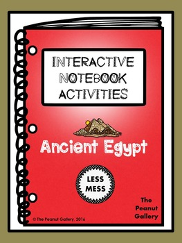 """""""Less Mess"""" Ancient Egypt Interactive Notebook Activities"""