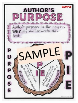 """Less Mess"" Author's Purpose Interactive Notebook Activities"