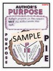 """""""Less Mess"""" Author's Purpose Interactive Notebook Activities"""