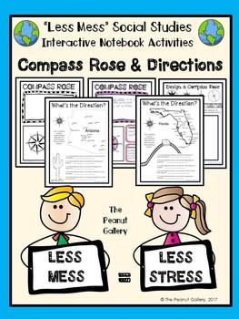 """Less Mess"" Compass Rose & Cardinal/Intermediate Directions"