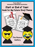 """""""Less Mess"""" Goals For My Future (Emojis): Interactive Notebook Activities"""