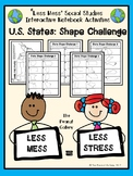 """""""Less Mess"""" Interactive Notebook Activities: U.S. State Shapes Challenge"""