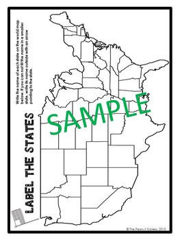 """Less Mess"" Interactive Notebook Activities: U.S. State Shapes Challenge"