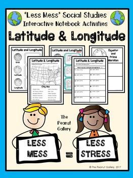 """Less Mess"" Interactive Notebooks: Latitude & Longitude"