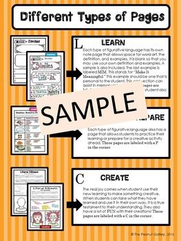 """Less Mess"" Similes & Metaphors Interactive Notebook Activities"