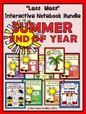 """""""Less Mess"""" Summer/End of Year Interactive Notebook Activities Bundle"""