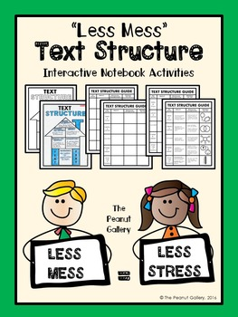 """Less Mess"" Text Structure Interactive Notebook Activities"