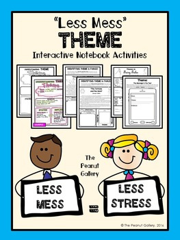 """Less Mess"" Theme Interactive Notebook Activities"