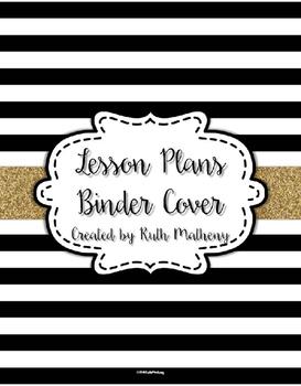 {Lesson Plan Binder Cover Freebie} Black & White Striped w