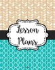 {Lesson Plan Binder Cover Freebie} Moroccan Leaves - Turquoise & Light brown.
