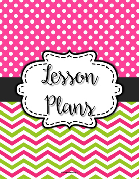 {Lesson Plan Binder Cover Freebie} Pink & Green Chevron Dots