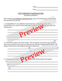 """""""Let's Celebrate Constitution Day"""" by B. duRuberts Comprehension ?"""