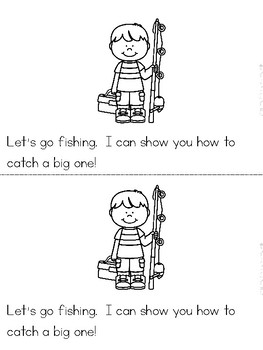 """Let's Go Fishing"" A June/Summer Emergent Reader and Response Dollar Deal"