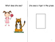 """Let's Go to the Zoo"" Adapted Books (Color and B/W) - Pronouns and WH Q's"