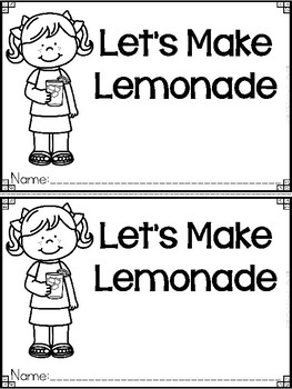 """""""Let's Make Lemonade"""" A How To Emergent Reader and Response Dollar Deal"""